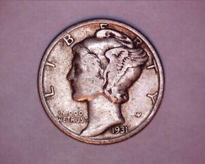 1931 MERCURY DIME***<> 508-1