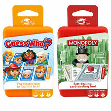 Shuffle Playing Card Games for Kids, Guess Who or Subbuteo with Monopoly Deal