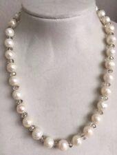 Facettierten Perlen Kette mit Swarovski Elemente 925 Silber Magnetschließe