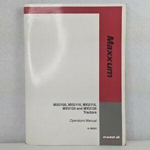 Case IH Maxxum MXU100 MXU110  MXU115 MXU125 MXU135 Tractors Operators Manual