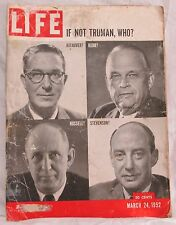 Life Magazine March 24,1952 Back Issue - If Not Truman, Who? - Vintage History