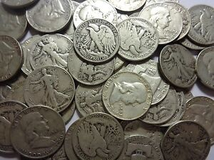 90% SILVER WALKER FRANKLIN OR AU/BU 1964 KENNEDY...U CAN PICK!