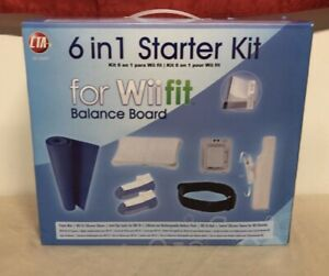 6 In 1 Starter Kit For Wii Fit Board Nintendo Wii Accessory Set! Brand New Open