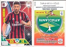 CALCIATORI 2017/18 *A*ADRENALYN PANINI CARD N.232*MILAN-BORINI*NEW