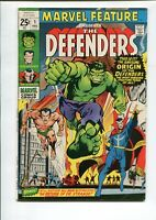 Marvel Feature #1 6.5 (O/W) FN+ 1st app. of The Defenders Marvel Comics 1971