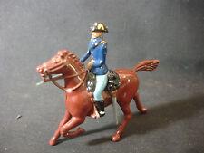 1990 Lead Britains Soldier Military On Horse Sword Figure Figurine Train Garden