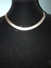 Sterling Silver Milor flat chain, .925, Made in Italy, 24 grams, lobster claw