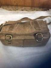 Indigenous Brand Leather Messenger Bag Crossbody Vintage Distressed Compartments