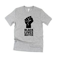 Black Lives Matter Unisex T shirt BELLA CANVAS Premium tee Power Fist
