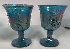 Vintage Indiana Carnival Glass Wine Goblets Set/2