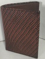 NEW MEN TRI-FOLD LIZARD EMBOSSED LEATHER WALLET BROWN CARD HOLDER GIFT FOR HIM
