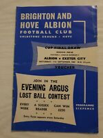 BRIGHTON and Hove Albion v Exeter City football programme 1965-66 division 3