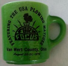 1974 Van Wert County Ohio OH USA Plowing Matches coffee mug cup ONLY ONE ON EBAY