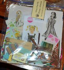 Custom Ephemera Pack grab bag Scrapbook, Mixed Media Art, collage 65 - 100 Pcs