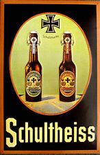 Schultheiss - Flaschen Blechschild, 40 x 60 cm, gewölbt & Motiv geprägt