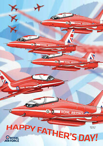 RED ARROWS ~ Father's Day Card **** NEW Stock **** NEW stock **** NEW stock