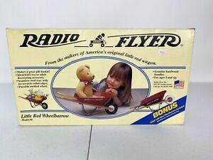 NEW Radio Flyer Little Red TOY Wheelbarrow Metal Wood Doll Teddy Bear BONUS Mini