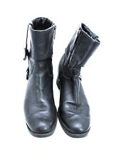 HARLEY DAVIDSON Sadie Black Leather Boots Women Size 7.5 M D84068 Pre-Owned