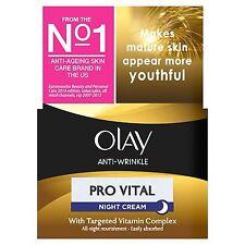 Olay Anti-Wrinkle Night Cream Pro Vital Anti-Ageing Moisturiser Mature Skin 50ml