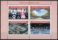Madagascar 2019 CTO Tokyo Summer Olympics 2020 4v M/S Swimming Sports Stamps