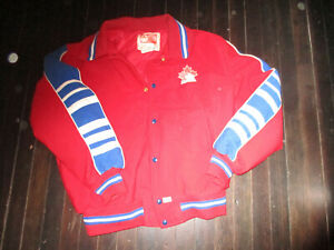 VINTAGE RARE 1988/95 TEAM CANADA Hockey JACKET XL made by Swain Canada