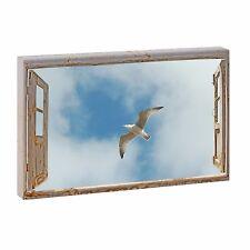 Bild auf Leinwand Fensterblick Nordsee Wandbild Poster XXL 100 cm*65 cm 265q