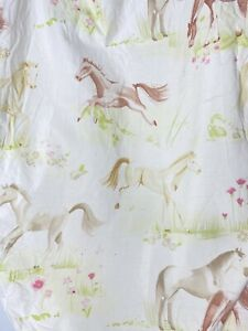 The Company Store Twin Fitted Sheet ONLY Horses Kids Equestrian Girls Western