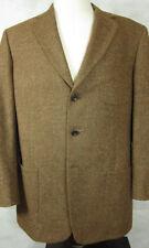 NEW Bullock & Jones 3 Button Light Brown Wool Tweed Sport Coat 42L