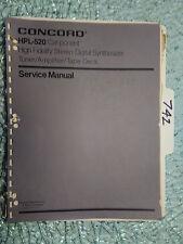 Concord HPL-520 service manual original repair book stereo car radio tape amp!