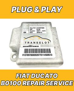 FIAT DUCATO 01375110080 AIRBAG ECU SRS MODULE B0100 FAULT REPAIR RESET SERVICE