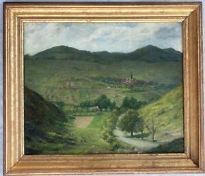 1934 Oil on Canvas Landscape signed Bruhn-NR