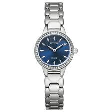 Citizen Women's Quartz Swarovski Crystal Accents Blue Dial 24mm Watch EZ7010-56L