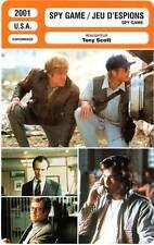 FICHE CINEMA : SPY GAME - Redford,Pitt,McCormack,Scott 2001 Jeu d'Espions
