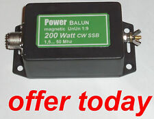 UNUN Magnetic 1:9 Balun 200 Watt PEP Langdrahtbalun Powerbalun neu AKTION