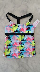 NWT $40-California Kisses palm tree long halter top girl child's size M -L
