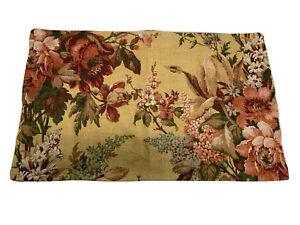 Pottery Barn NEW NWOT Elaine Floral Print Lumbar Pillow 16x26 Yellow/Multi $45.5