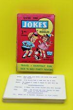 Vintage Jokes and Riddles Pocket Travel Card Game 1950's