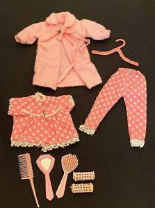 Vintage 1960's Barbie Skipper Doll Hong Kong Clone Pajama Robe Outfit