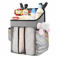 Zooawa Baby Crib Cot Bed Hanging Storage Bag Nursery Diaper Nappy Wipe Organizer