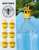 6 x Fly Wasp trap attachment for empty bottle Fly trap Set of 6 Reusable NEW