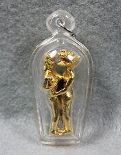 INN Dragon Amulet Love Sex Charm Powerful Statue Antique Thai Buddha Brass