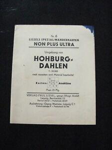 Lissels Spezial Wanderkarte Nr 6.Umgebung von Hohburg Dahlen um 1910