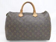 Auth Louis Vuitton Speedy 35 Hand Boston Bag Monogram Brown France 42170052400 K