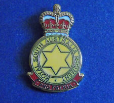 ROYAL SOUTH AUSTRALIA REGIMENT LAPEL BADGE ENAMEL AND GOLD PLATED 25MM HIGH