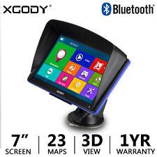 "Xgody 886 7"" Portable Car Gps Navigation Sat Nav Bluetooth Navigator 256+8Gb  0000184B"