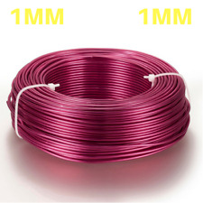 1mm Aluminium Craft Florist Wire Jewellery Making CAMELLIA ORCHID 10m lengths