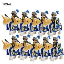 10 Pcs MINI FIGURES Castle Dragon Knights Royal Medieval Kings Horses block toys
