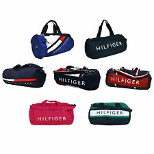 Tommy Hilfiger Duffle Bag Large Duffel Graphic Canvas Tote Bag Travel New Nwt