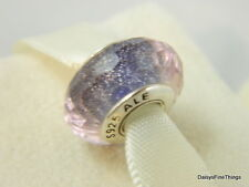 NEW! AUTHENTIC PANDORA CHARM PURPLE SHIMMER MURANO GLASS #791651   P