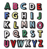 Colourful A-Z Alphabet Letter Letters  Iron on Patches Embroidery Patch Clothes